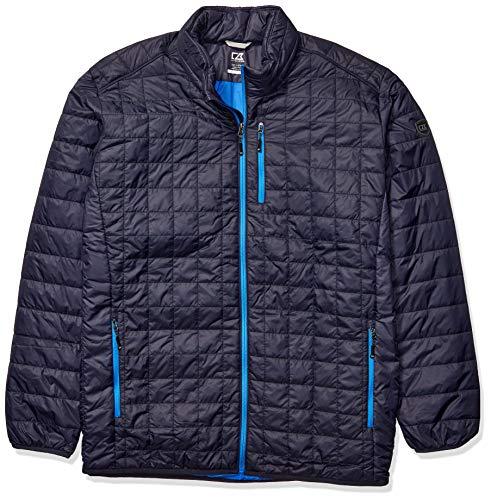 Cutter & Buck Men's Weather Resistant Primaloft Down Alternative Rainier Jacket, Dark Navy, 2X Tall