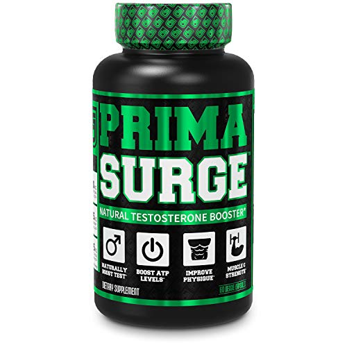 PRIMASURGE Testosterone Booster for Men - Boost Lean Muscle Growth, Strength, Energy & Fat Loss | Natural Test Booster Supplement w/ Premium PrimaVie, Ashwagandha & More - 60 Veggie Pills