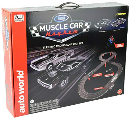 Auto World/VRC Hobbies Muscle Car Mayhem HO Scale Slot Car Race Set CP7605