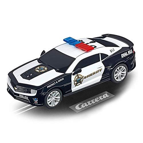 Carrera GO 64031 Chevrolet Camarao ZL1 Sherrif Slot Car Racing Vehicle, Black & White (20064031)