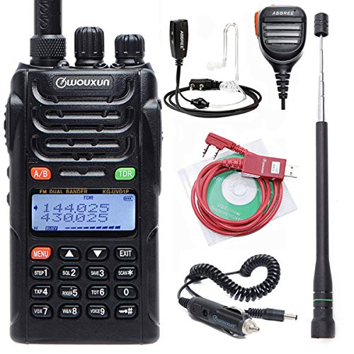 WOUXUN KG-UVD1P Dual Band Handheld Two Way Radio with 1700mAh Battery FM Transceiver UVD1P UHF VHF HAM Radio