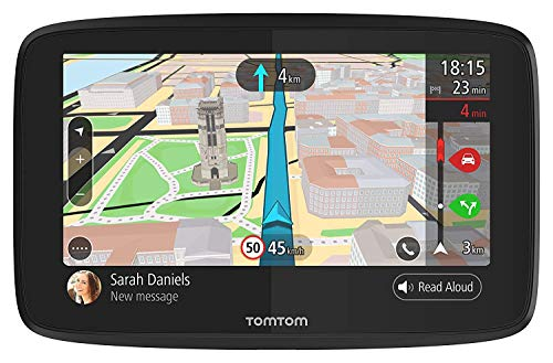 TomTom Go 520 5-Inch GPS Navigation Device with Real Time Traffic, World Maps, Wi-Fi-Connectivity, Smartphone Messaging, Voice Control and Hands-free Calling
