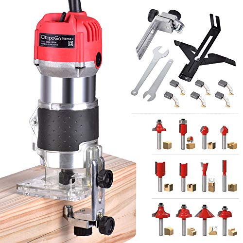 Electric Hand Trimmer Wood Laminator Palm Router Trimmer Woodworking Joiner Cutting Palmming Tool 30000R/MIN 800W 110V