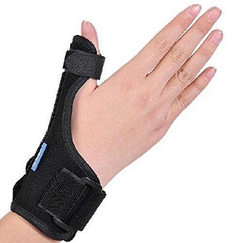 KONMED Thumb Splint Breathable Thumb Spica Wrist Support Brace for De Quervains Tenosynovitis, Arthritis, Tendonitis, Trigger Thumb Immobilizer Fits Men Women Left and Right Hand