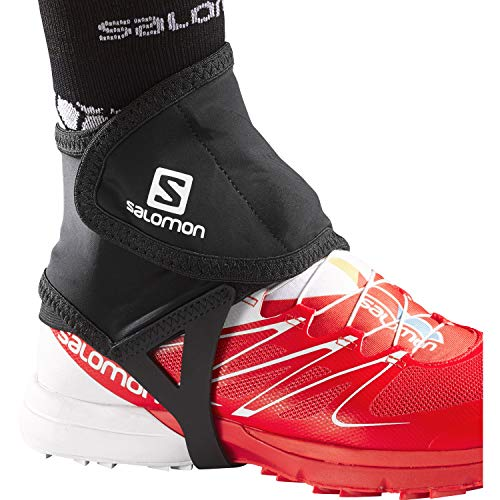 Salomon Trail Gaiters, Black, Medium (size 7.5-9)