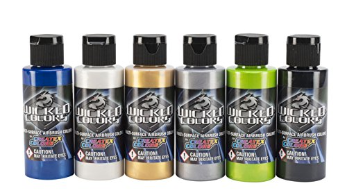 Wicked Colors 2-Ounce Wicked Airbrush Set, Pearl