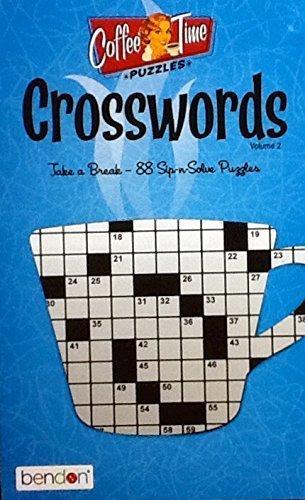 Bendon Coffee Time Crossword Puzzles Vol. 2 ~ Puzzle Book Volume 2