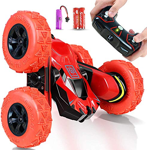 Car Toys for 5-10 Year Old Boys Joyjam RC Stunt Car Off Road RC Cars for Kids and Adults 2.4Ghz Remote Control Truck High Speed Racing Car for Girls 360 Degree Rolling Rotation Easter Birthday Gift