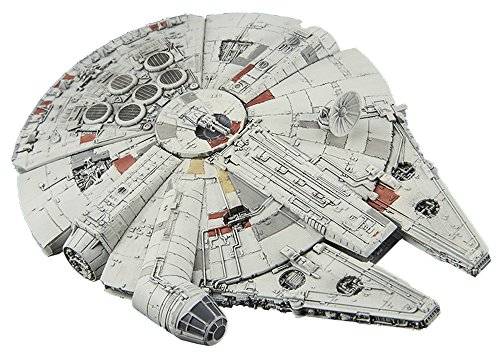 Bandai Vehicle Model 006 Star Wars Millennium Falcon Plastic Model Kit -Story of Roue one-, White