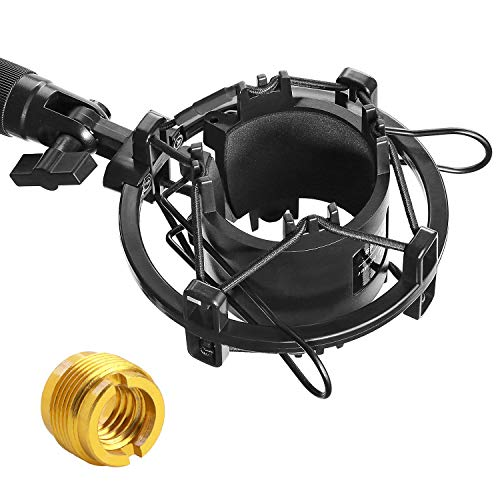 AT2020 Shock Mount - Microphone Mounts Reduces Vibration Noise and Shockmount Improve Recording Quality for Audio Technica AT2020 AT2020USB+ AT2035 ATR2500 Condenser Mic by YOUSHARES