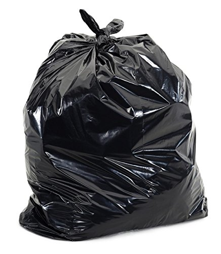 Trash Can Liners, Recycled T Series, Black, 33 Gallon, 33' Width x 39' Length, Heavy Gauge, Coreless Rolls (Pack of 200)