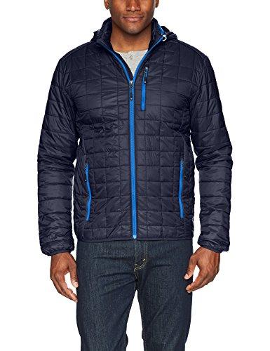 Cutter & Buck Men's Weather Resistant Primaloft Down Alternative Rainer Jacket, Dark Navy, X-Large