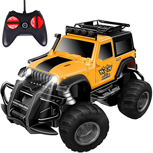 Remote Control Car,Cars Toy for Boys,Remote Control Truck Rc Car for 4 5 6 7 8 Year Old,Toys jeep Kids Gifts for 4-8 Year Old Indoor Outdoors Toys ,for Boys or Girls(Yellow)