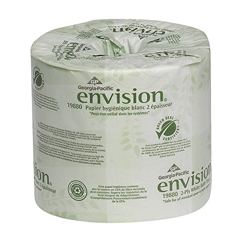 Georgia Pacific Envision 2-Ply Embossed Toilet Paper, 19880/01, 550 Sheets Per Roll, 80 Rolls Per Case, White